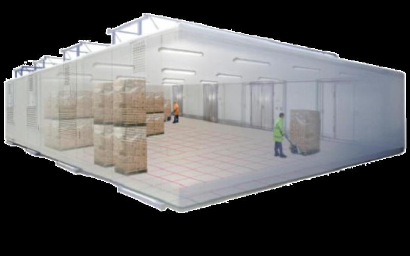 Tiefkühlcontainer mieten. Für größere Tiefkühllager und Kühllager werden die SuperBox Module verbunden. Thermobil SuperBoxXL